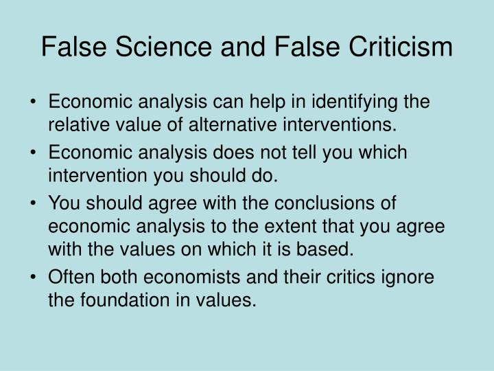 False Science and False Criticism
