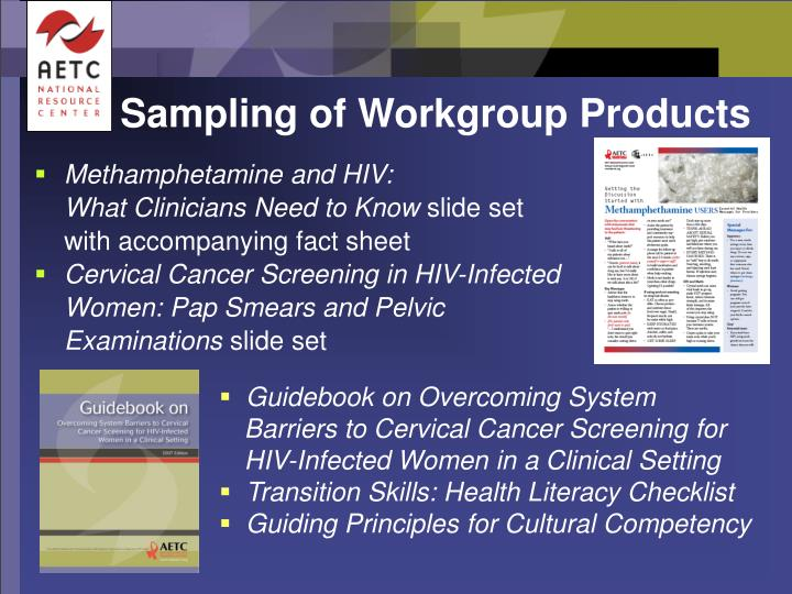 Sampling of Workgroup Products