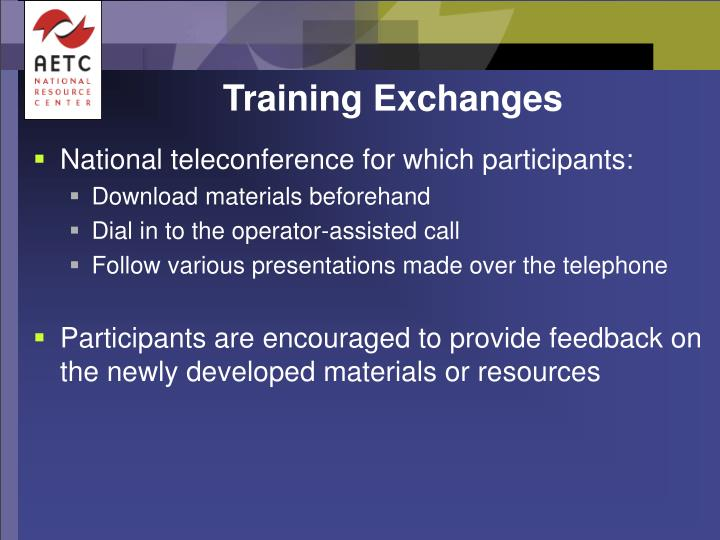 Training Exchanges