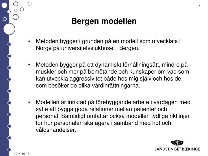 Bergen modellen