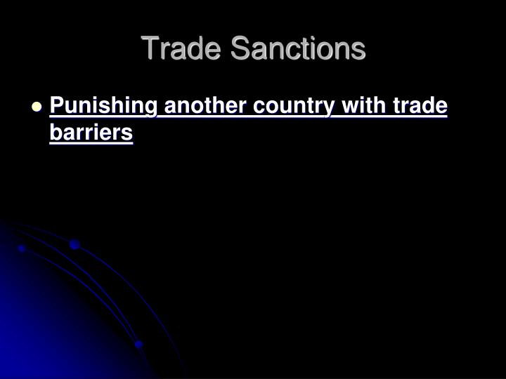 Trade Sanctions