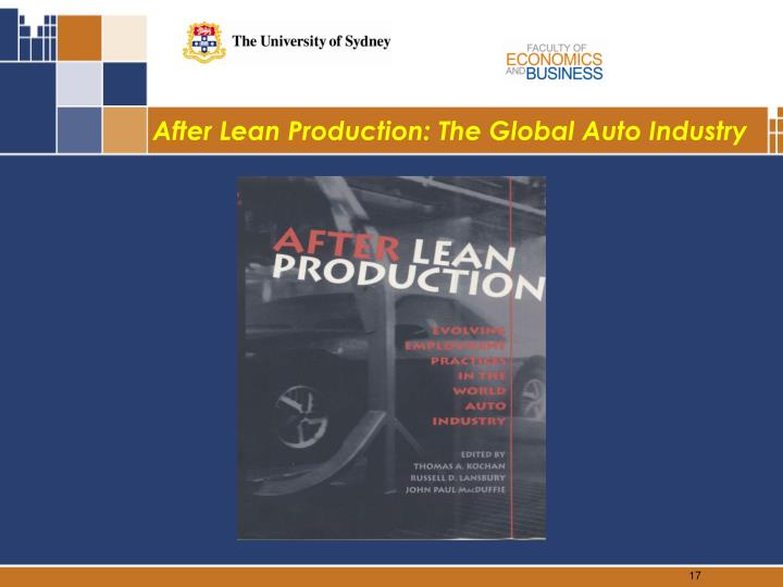 After Lean Production: The Global Auto Industry