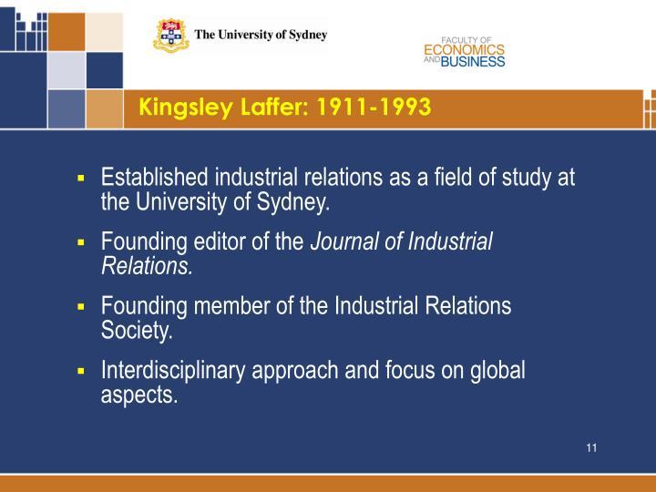 Kingsley Laffer: 1911-1993