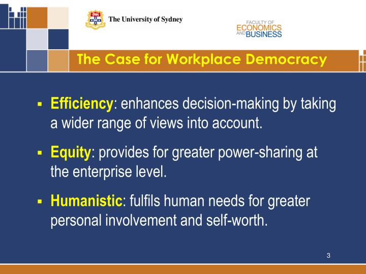 The Case for Workplace Democracy
