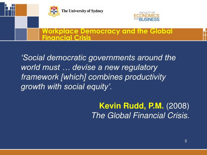 Workplace Democracy and the Global