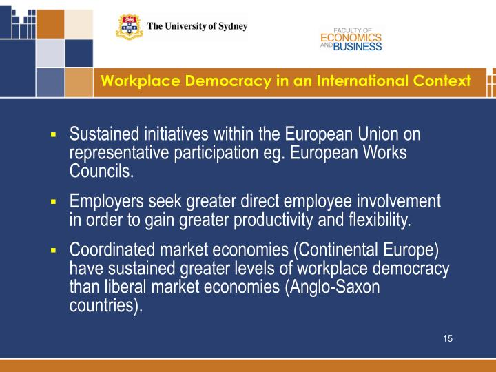Workplace Democracy in an International Context