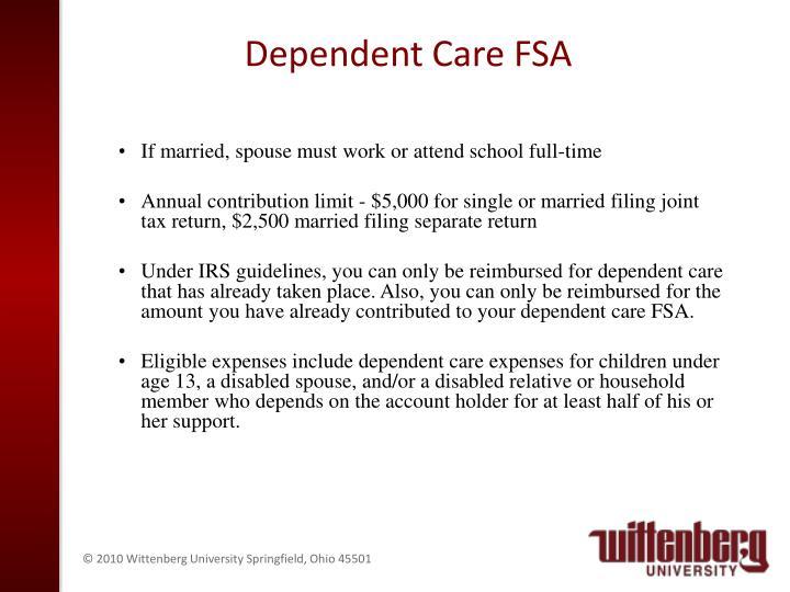 Dependent Care FSA