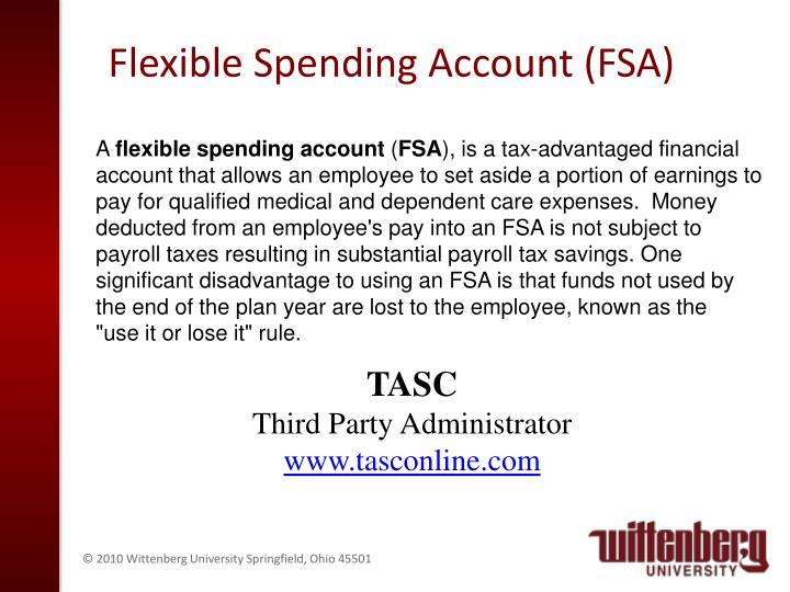 Flexible Spending Account (FSA)