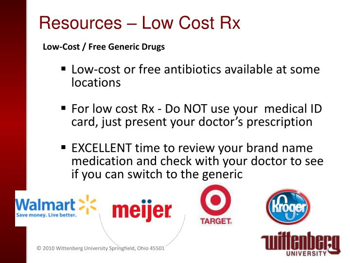 Resources – Low Cost Rx