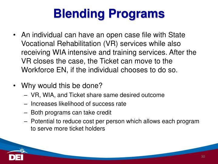 Blending Programs