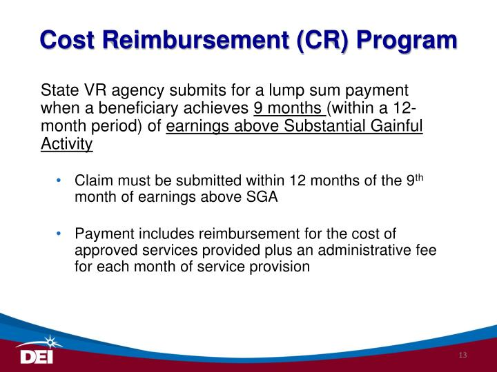 Cost Reimbursement (CR) Program