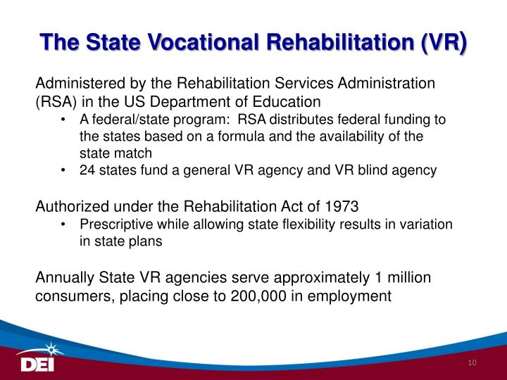 The State Vocational Rehabilitation (VR
