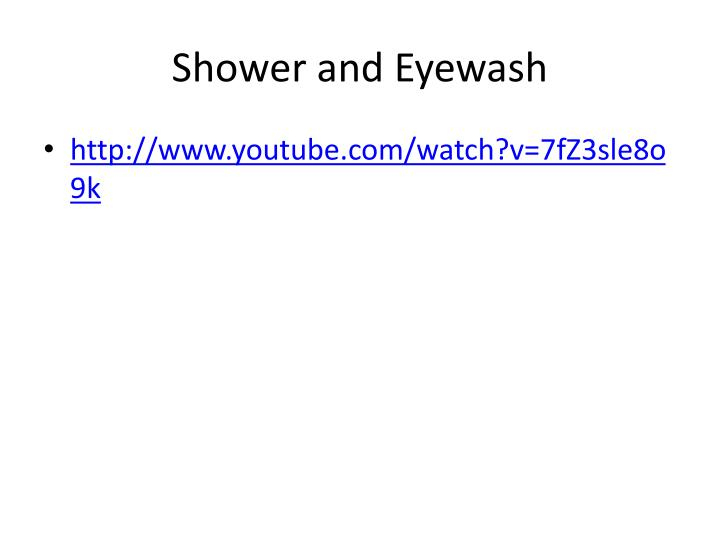 Shower and Eyewash