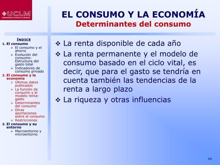 EL CONSUMO Y LA ECONOMÍA