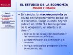 el estudio de la econom a micro y macro1