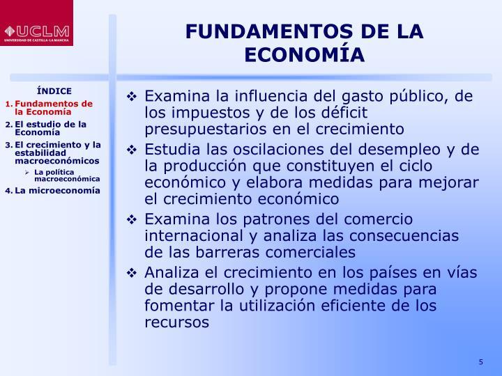 FUNDAMENTOS DE LA ECONOMÍA