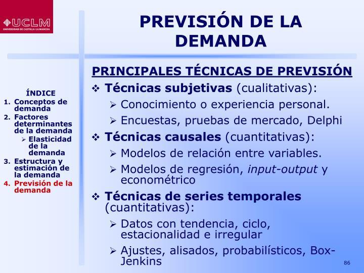 PREVISIÓN DE LA DEMANDA