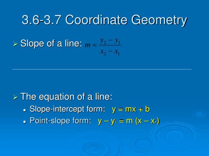 3.6-3.7 Coordinate Geometry
