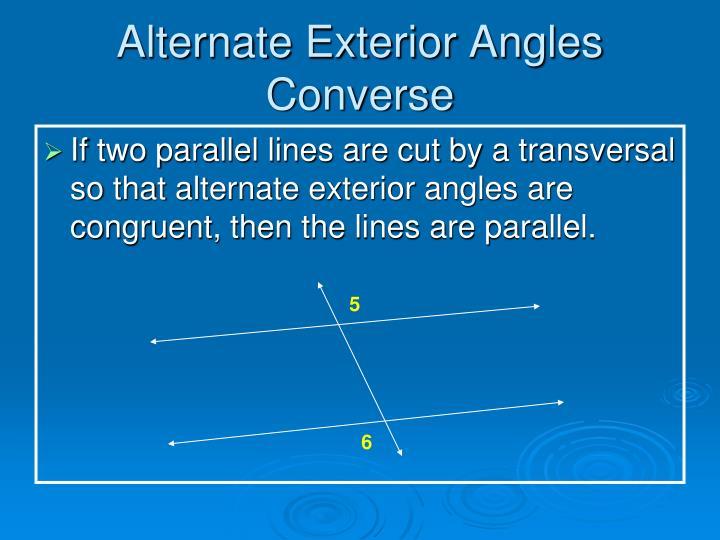 Alternate Exterior Angles Converse