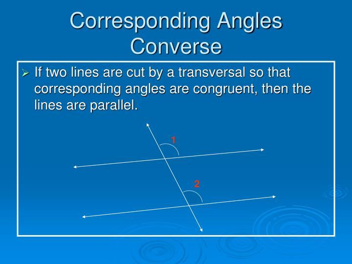 Corresponding Angles Converse