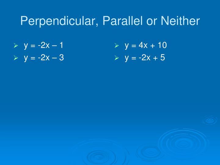 y = -2x – 1