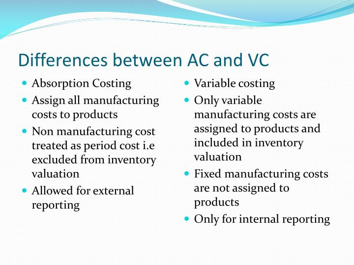 Differences between AC and VC