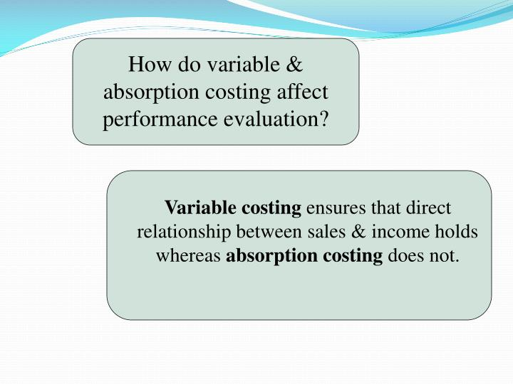 How do variable & absorption costing affect performance evaluation?