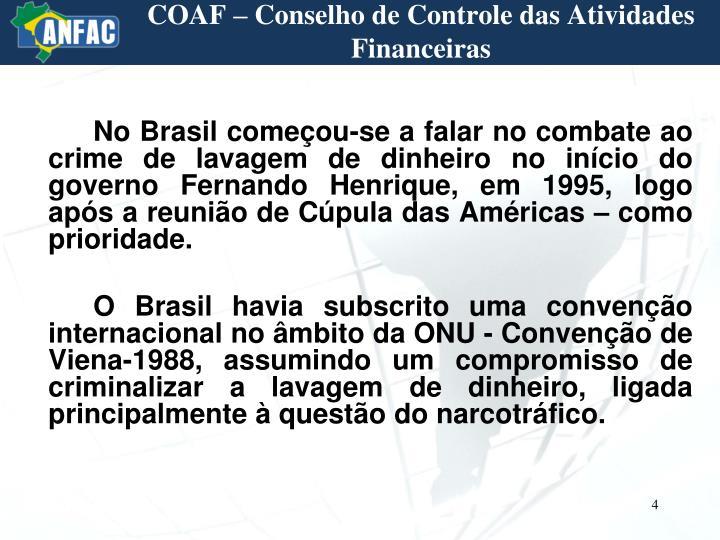 COAF – Conselho de Controle das Atividades Financeiras