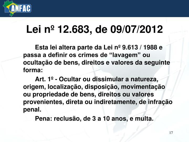 Lei nº 12.683, de 09/07/2012
