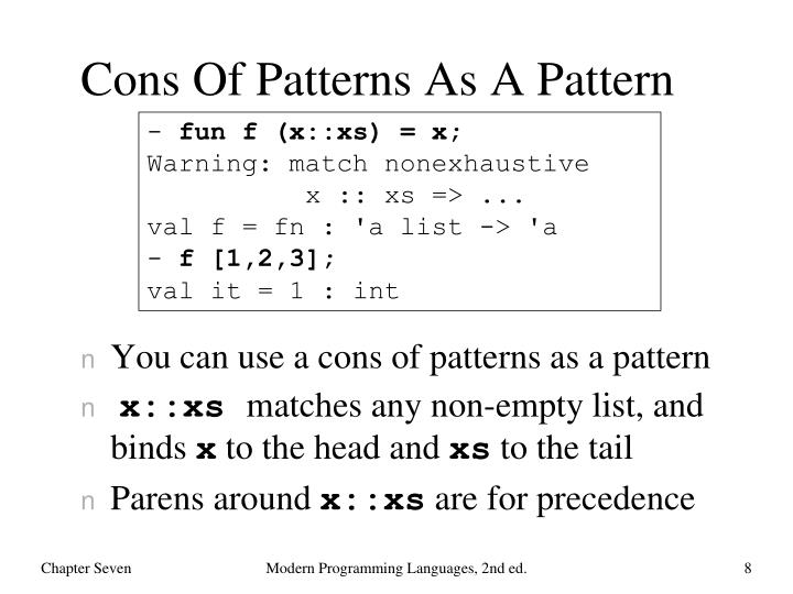 Cons Of Patterns As A Pattern