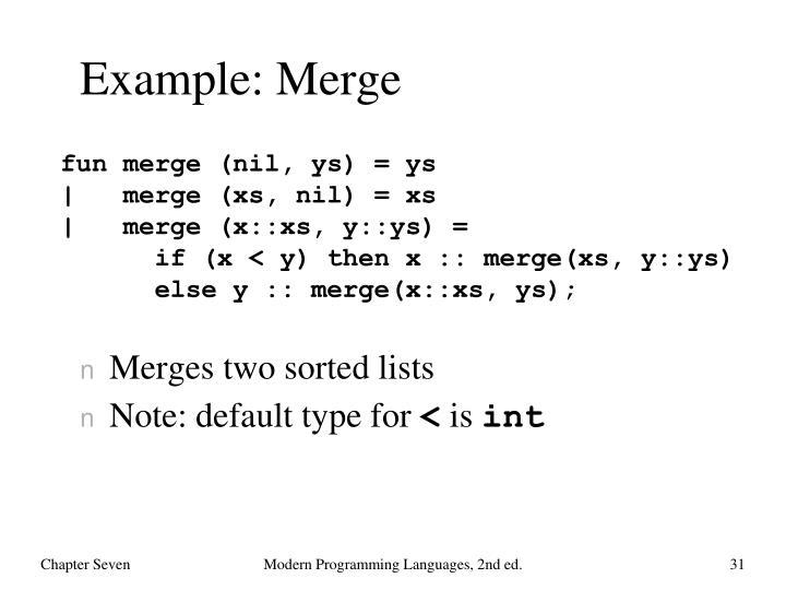 Example: Merge