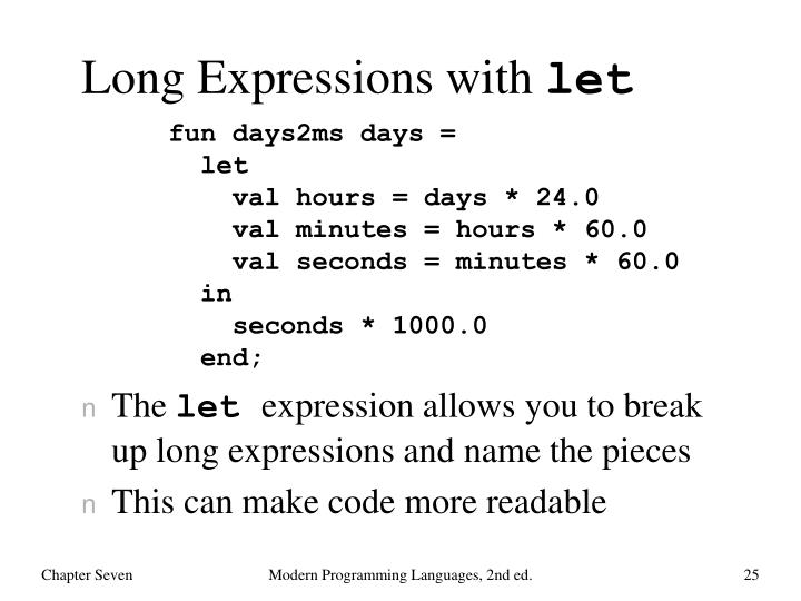 Long Expressions with
