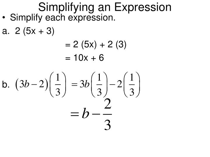 Simplifying an Expression