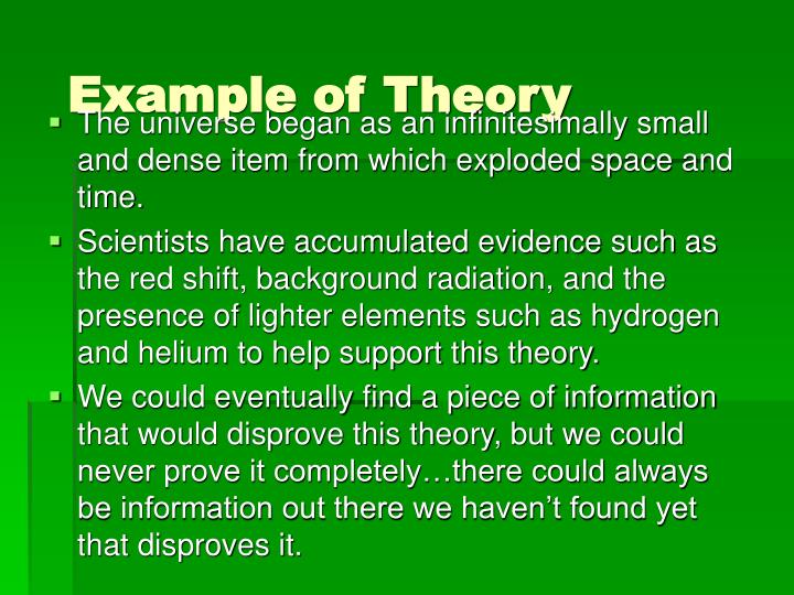 Example of Theory