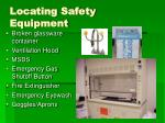 locating safety equipment
