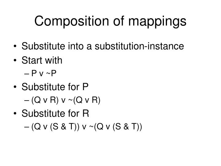 Composition of mappings