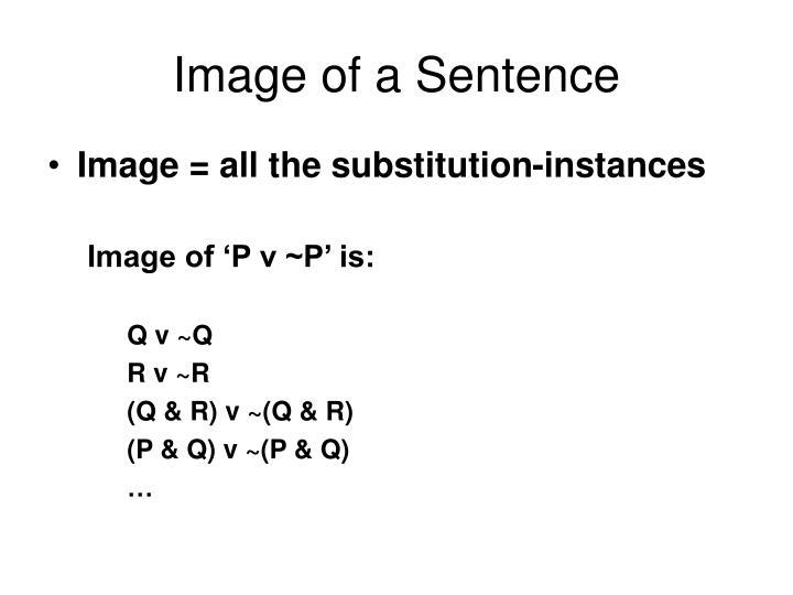 Image of a Sentence