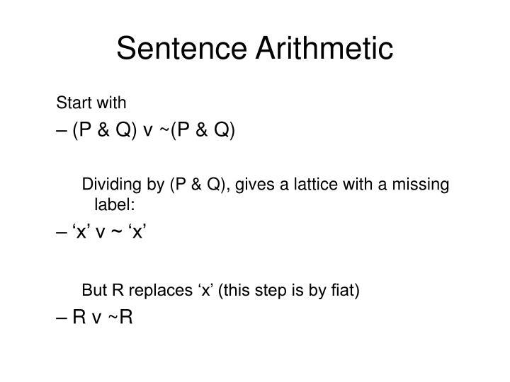 Sentence Arithmetic