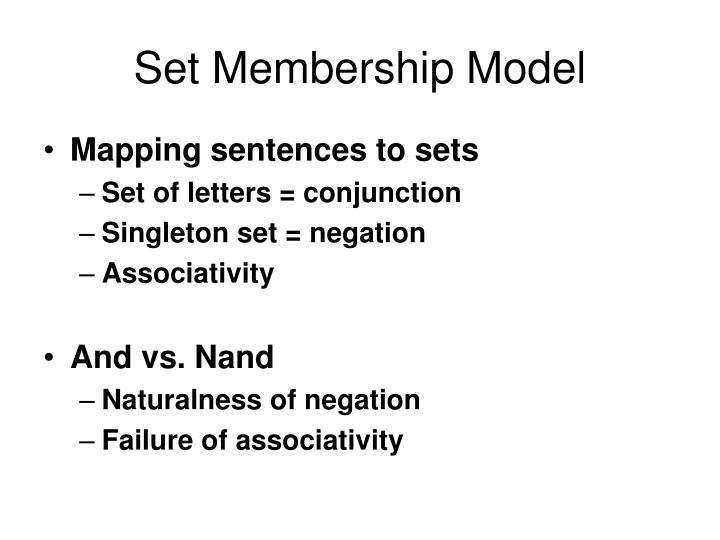 Set Membership Model