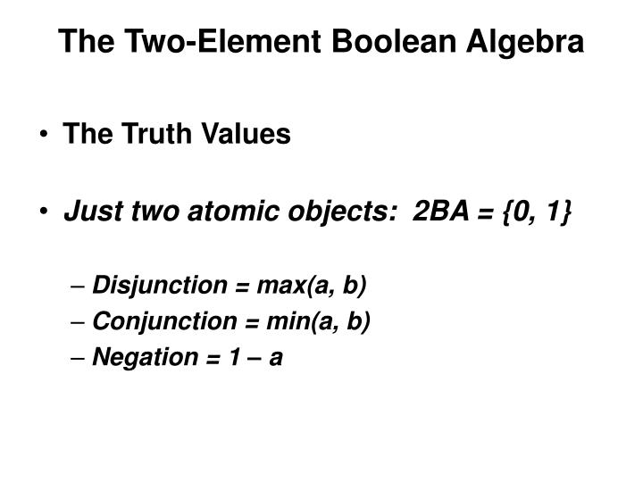 The Two-Element Boolean Algebra