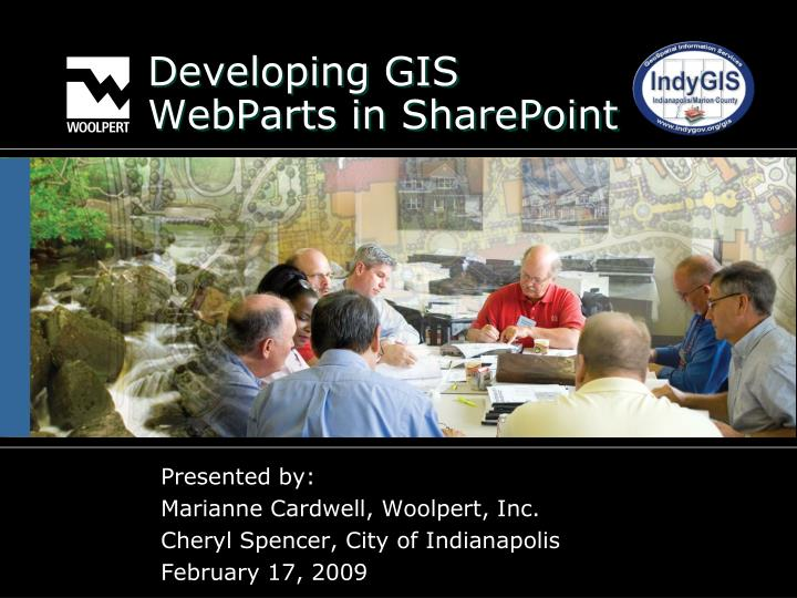 Developing gis webparts in sharepoint