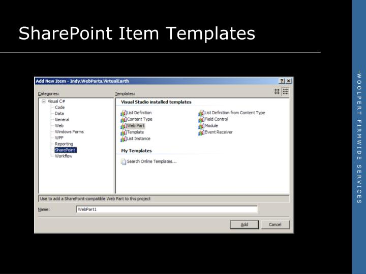 SharePoint Item Templates