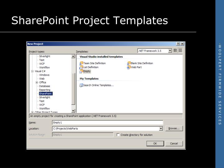 SharePoint Project Templates