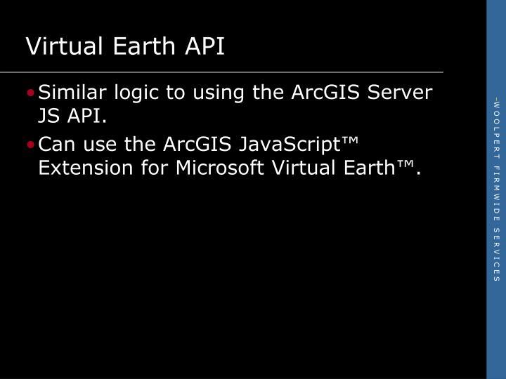 Virtual Earth API