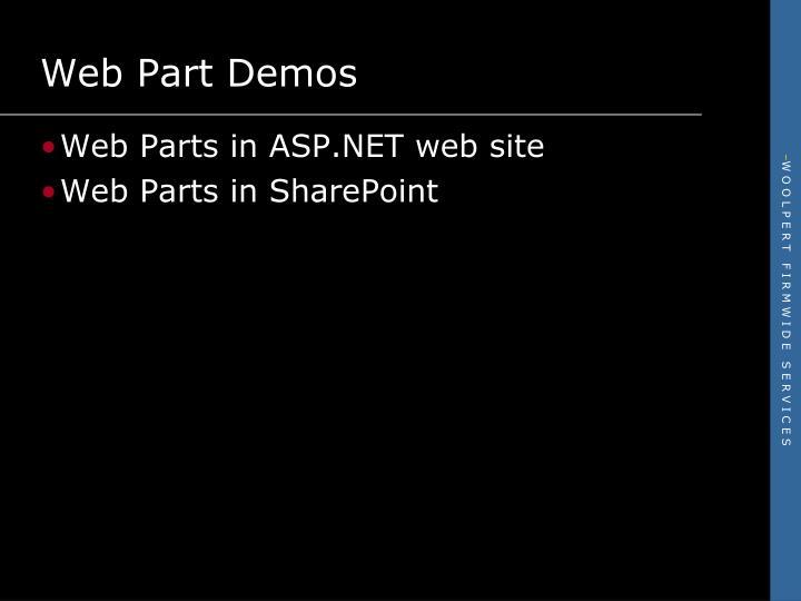 Web Part Demos