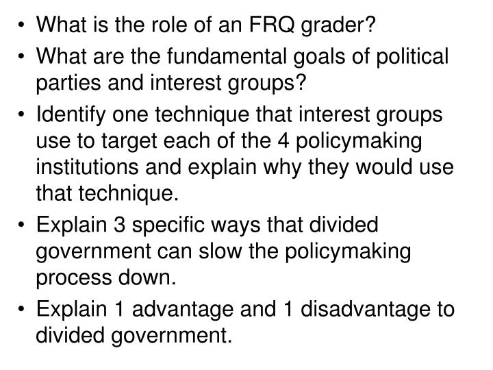 What is the role of an FRQ grader?