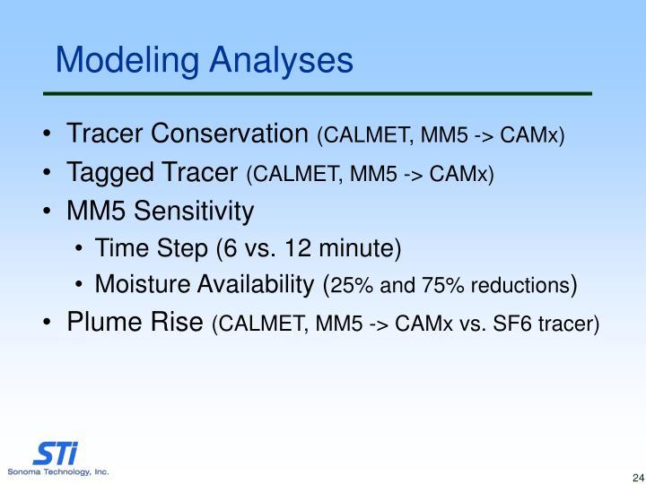 Modeling Analyses
