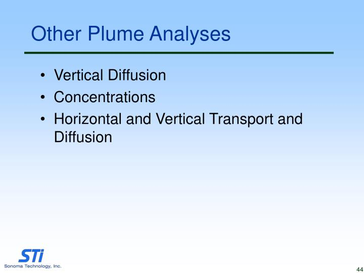 Other Plume Analyses