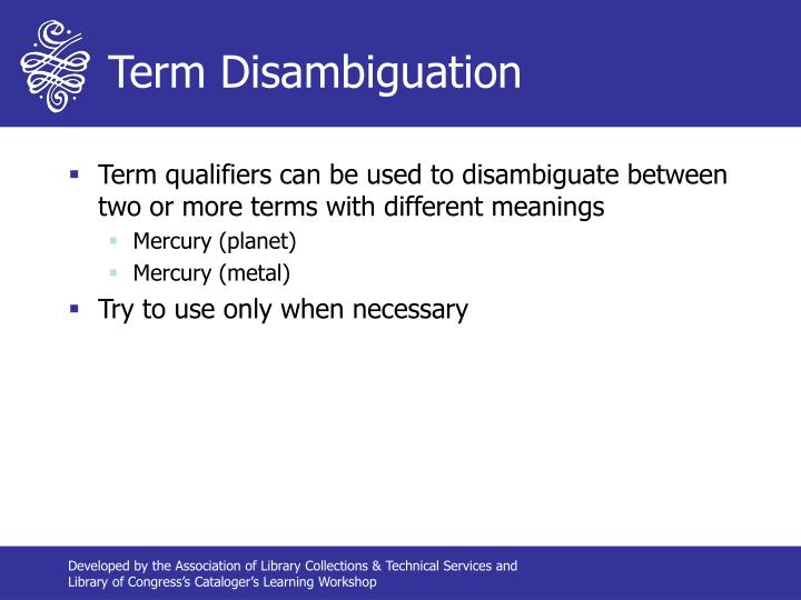 Term Disambiguation