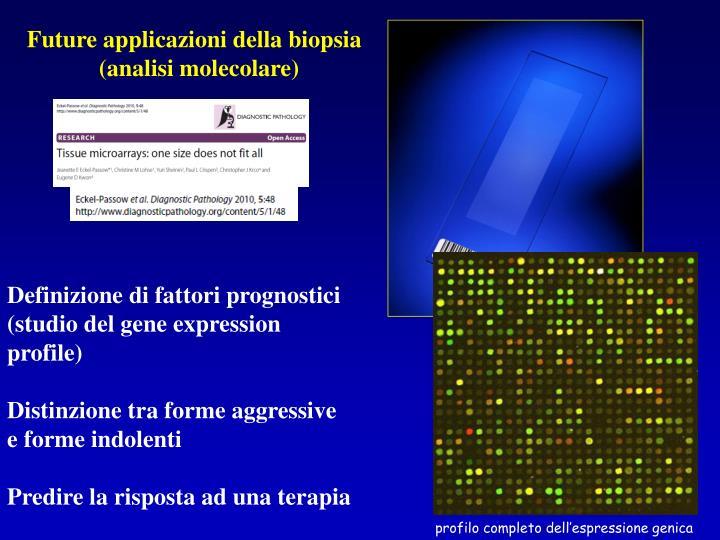 Future applicazioni della biopsia